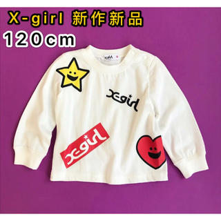 X-girl Stages - 新品 X-girlStages Tシャツ ラキラッキー&ハートロゴプリント長袖