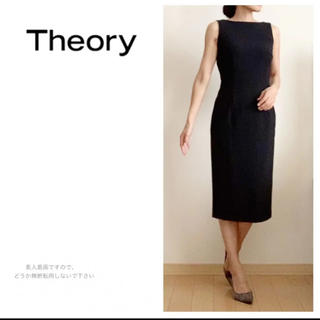theory - Theory☆セオリー☆ストレッチ☆ワンピース☆膝丈☆ワンピ☆黒☆フォーマル