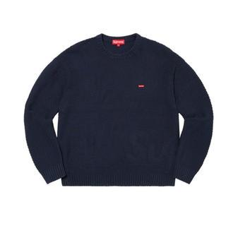 Supreme - Supreme Small Box Sweater L navy 20aw