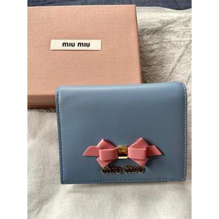 miumiu - miumiu 折り財布 新品未使用♪ フィオッコ リボン