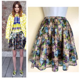 エムエスジイエム(MSGM)のMSGM iridescent オーガンザ ローズ スカート 4.4万(ひざ丈スカート)