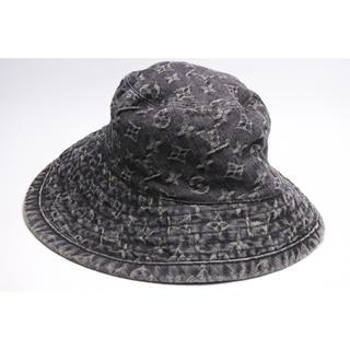 ルイヴィトン(LOUIS VUITTON)のルイヴィトン  モノグラムデニム ブラック ハット 帽子 CAP シャポー(ハット)