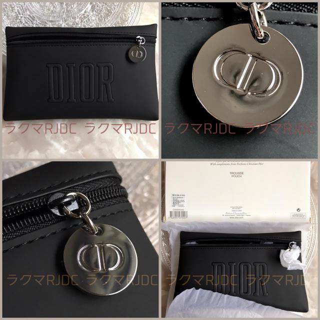 Christian Dior(クリスチャンディオール)の【新品未開封】ディオール ブラック マット フラット スマートポーチ 国外限定 レディースのファッション小物(ポーチ)の商品写真