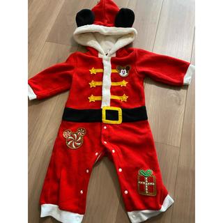 Disney - 最終値下 着用1回 極美品 サンタ ミッキー クリスマス 80
