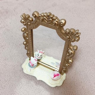 Disney - マリーちゃん スタンドミラー 卓上 鏡