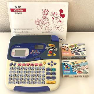 CASIO - カシオ ネームランド シールワープロ(ディズニーキャラクターズ)KL-471