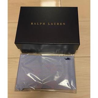 ポロラルフローレン(POLO RALPH LAUREN)のラルフローレン コットンクロスマスク ブルー 未使用 ギフトボックス付き(その他)