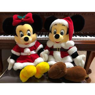 レトロ ミッキー  &  ミニー ぬいぐるみ【クリスマス】
