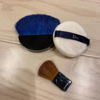 Dior - Dior フェイスパウダーブラシ colour ブルー&パフ&ブラシ