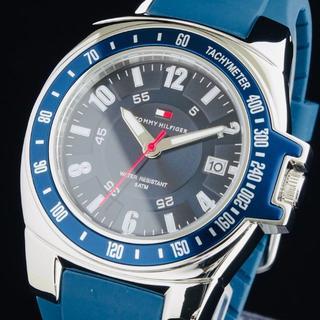トミーヒルフィガー(TOMMY HILFIGER)の◆大感謝セール◆トミーヒルフィガー 新品 メンズ 腕時計 ラバーベルト 即納(ラバーベルト)