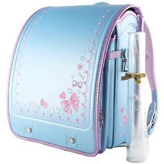 在庫1 セール 6年保証 パール 水色 ランドセル 女の子 女児 紫 ラベンダー
