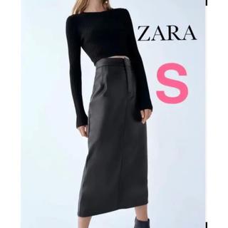 ZARA - ZARA レザー風スカート S ペンシルスカート