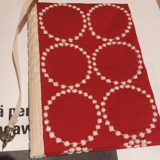 mina perhonen - 新品未使用 ミナペルホネン ブックカバー タンバリン レッド 赤