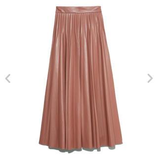 snidel - レザープリーツスカート
