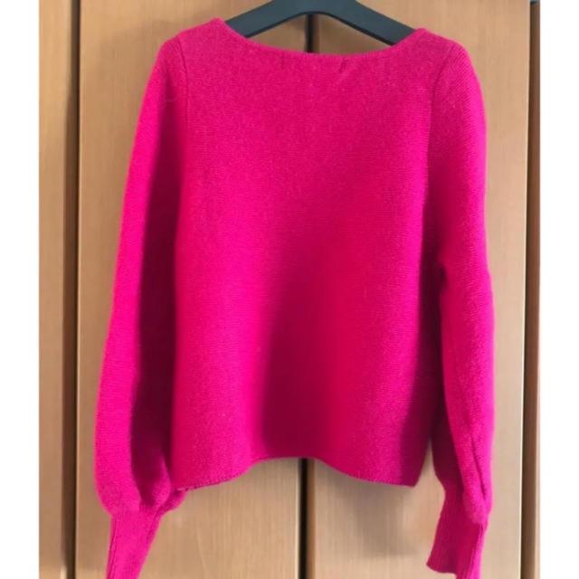 Lily Brown(リリーブラウン)のLily Brown ピンクニット レディースのトップス(ニット/セーター)の商品写真