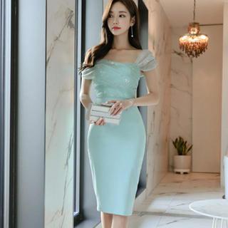【本日限定セール】DURAS系韓国ファッション♡マーメイド キャバドレス 水色