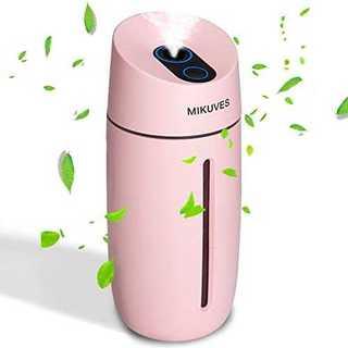 ピンク加湿器 卓上 超音波式 USB 大容量 250ml 2019進化版 除菌