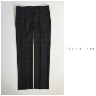 セオリーリュクス(Theory luxe)のセオリー リュクス ウール ストレッチ グレンチェック パンツ 日本製(その他)