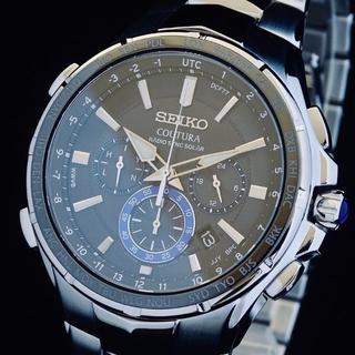 セイコー(SEIKO)の【プロフ必読 即決 shop様専用】セイコー メンズ腕時計 コーチュラ ソーラー(金属ベルト)