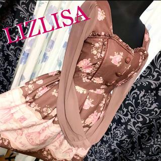 リズリサ(LIZ LISA)のリズリサ ブティック バックリボン フリル 長袖 シースルー(ひざ丈ワンピース)