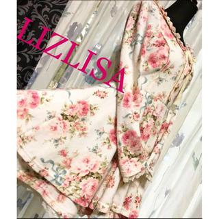 リズリサ(LIZ LISA)のリズリサ 花柄 総柄 長袖 膝丈 ワンピース スカート(ひざ丈ワンピース)
