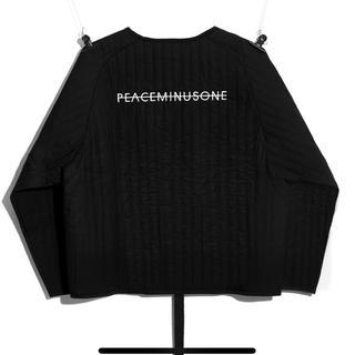PEACEMINUSONE - PMO PADDED PULLOVER #1 BLACK