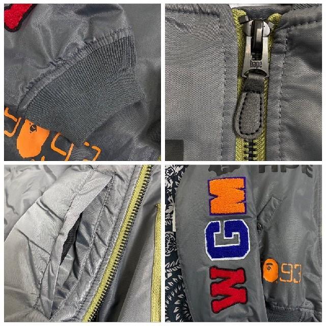 A BATHING APE(アベイシングエイプ)のBAPE X ALPHA SHARK MA-1 フライングジャケット メンズのジャケット/アウター(フライトジャケット)の商品写真