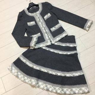 TO BE CHIC - 極美品✨TO BE CHIC ウールツイードジャケット+スカート スーツ 40