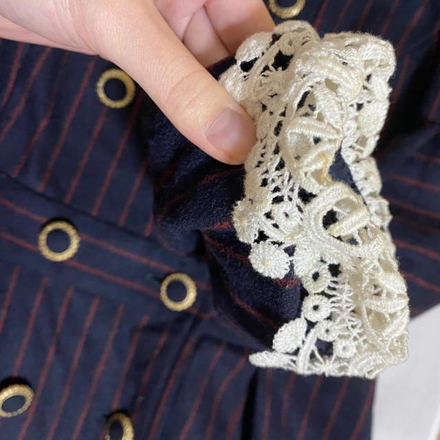 JaneMarple(ジェーンマープル)の【サトウ様専用】ジェーンマープル 白襟ワンピース レディースのワンピース(ひざ丈ワンピース)の商品写真