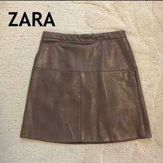 ZARA - ZARA レザースカート タイトスカート