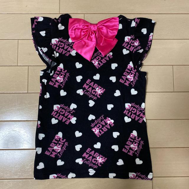 EARTHMAGIC(アースマジック)の【130cm】Tシャツ キッズ/ベビー/マタニティのキッズ服女の子用(90cm~)(Tシャツ/カットソー)の商品写真