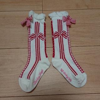 Shirley Temple - シャーリーテンプル リボン ハイソックス 靴下 13 14 15