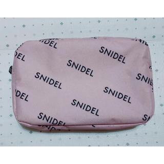 スナイデル(snidel)のsweet 5月号 特別 定価¥1080 付録 ロゴ ポーチ 小  ピンク のみ(ポーチ)