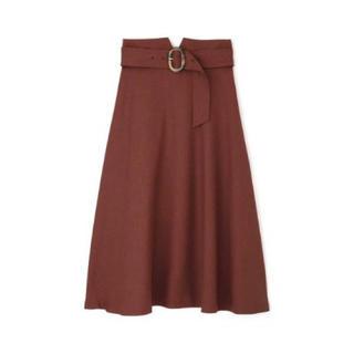 PROPORTION BODY DRESSING - ブラウン ベルト付きフレアスカート