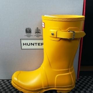 ハンター(HUNTER)の長靴〘新品〙ハンター オリジナル ショート レインブーツ 黄色 W/25cm(レインブーツ/長靴)