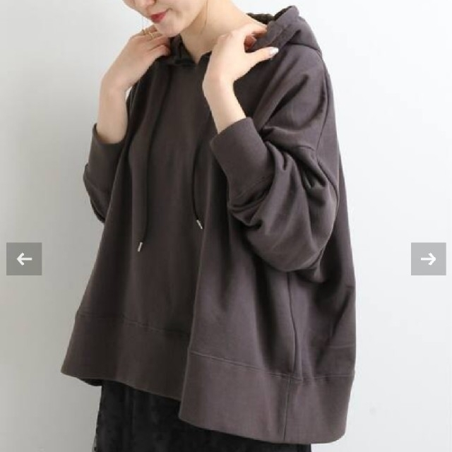 IENA(イエナ)の裏毛Wideパーカー レディースのトップス(パーカー)の商品写真