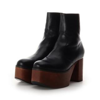 レディアゼル(REDYAZEL)の合皮ウッドソール厚底ショートブーツ(ブーツ)