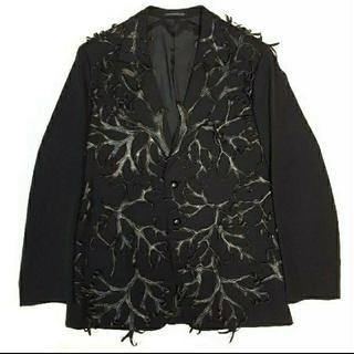 Yohji Yamamoto - yohji yamamoto 2000AW レザー装飾 ジャケット