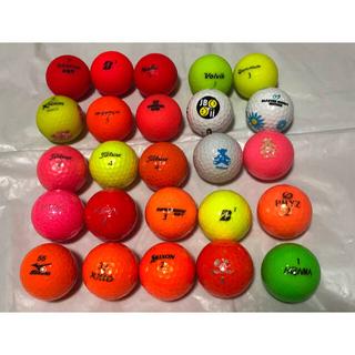 タイトリスト(Titleist)のゴルフボール(マルチカラー25ケパック)オマケ付き(その他)