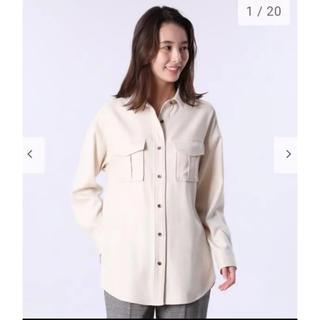 プラステ(PLST)のプラステ ウールブレンドビッグシャツ cpoジャケット(その他)