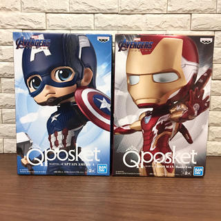 BANPRESTO - Qposket フィギュア アイアンマン キャプテンアメリカ セット