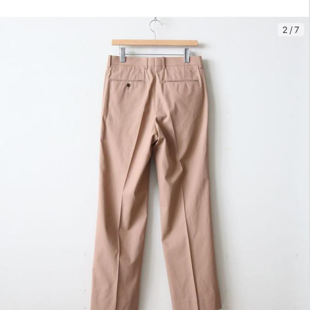 COMOLI(コモリ)のオーラリー 19aw hard twist gabardine slacks メンズのパンツ(スラックス)の商品写真