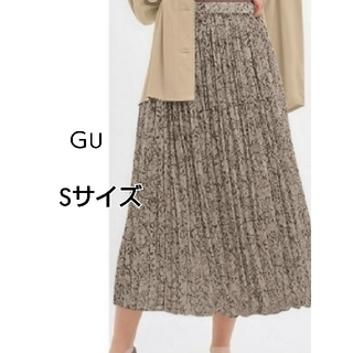 GU - GUロングプリーツスカートSサイズ 裏地付き