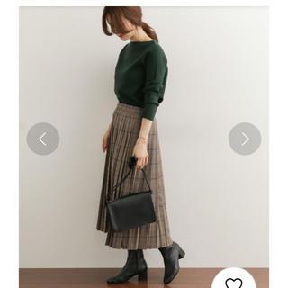 DOORS / URBAN RESEARCH - ドアーズ  グレンチェックプリーツスカート ベージュ系 美品