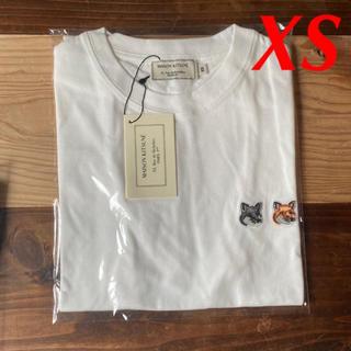 メゾンキツネ(MAISON KITSUNE')の【新品】メゾンキツネ Tシャツ ホワイト XS MAISON KITSUNE(Tシャツ(半袖/袖なし))