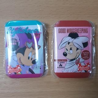 ミニーマウス(ミニーマウス)のディズニー★ミニーカプセルトイ★缶バッジスタイルスタジオ2種(キャラクターグッズ)