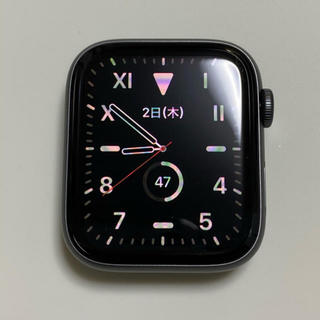 アップルウォッチ(Apple Watch)のApple Watch series4/44mm/SpaceGray/Wi-Fi(腕時計)