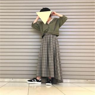 w closet - 【お洒落】wcloset/グレンチェック/バッグロングスカート