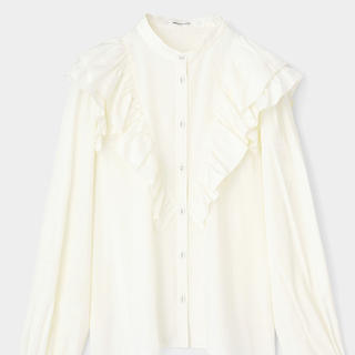 moussy - moussy SHOULDER RUFFLE ブラウス