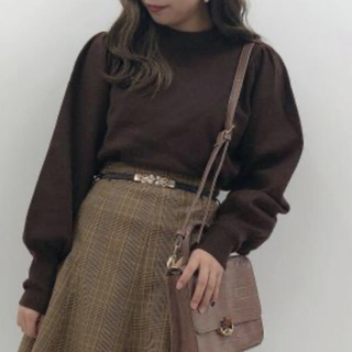 one after another NICE CLAUP - 新品 ナイスクラップ  ニット 秋色ニット パフスリーブ クルーネックニット